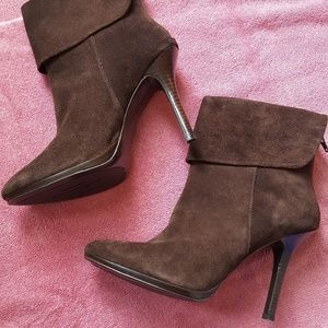 Brown Suede Boots Booties